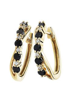 love-gem-9ct-yellow-gold-black-sapphire-and-diamond-hoop-earrings