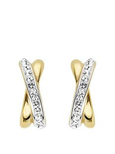 evoke-evoke-925-sterling-silver-rhodium-and-yellow-gold-plated-swarovski-crystal-kiss-stud-earrings