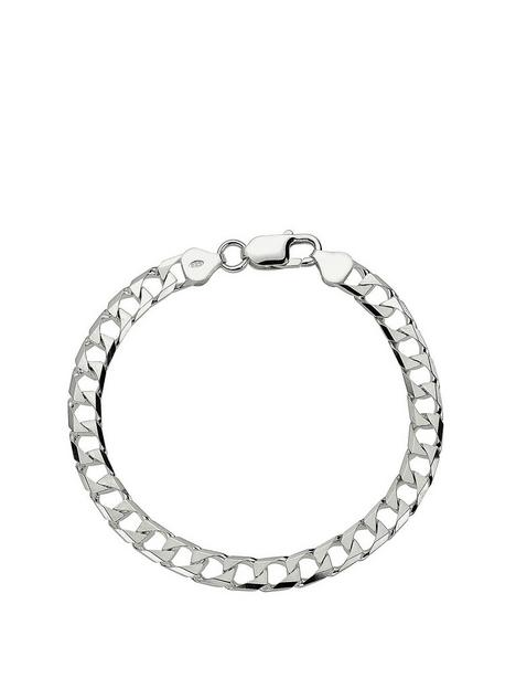 the-love-silver-collection-the-love-silver-collection-sterling-silver-square-8-inch-curb-bracelet