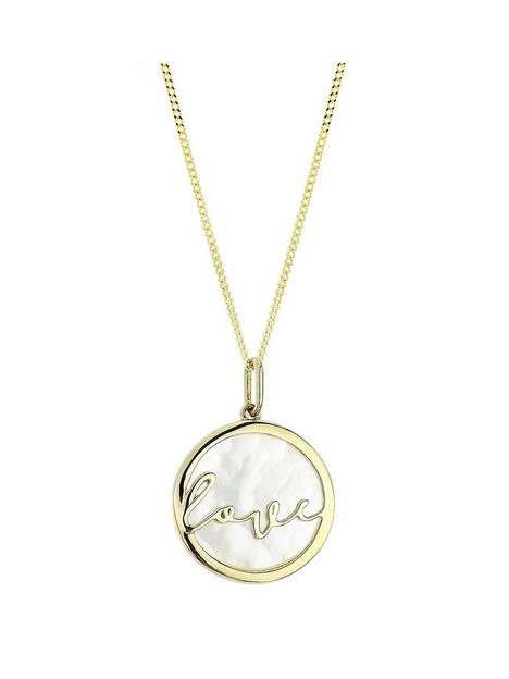 the-love-silver-collection-the-love-silver-collection-yellow-gold-plated-silver-mother-of-pearl-love-pendant-necklace