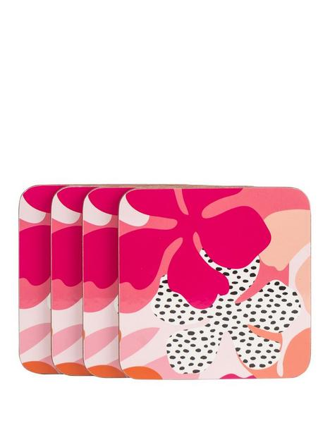 navigate-tribal-fusion-set-of-4-floral-coasters