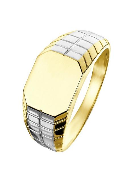 love-gold-love-gold-9ct-yellow-and-white-gold-signet-ring