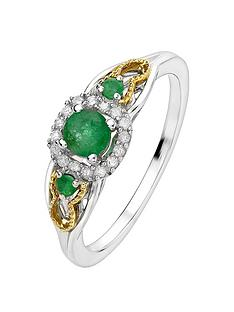 love-gem-9ct-yellow-gold-and-sterling-silver-emerald-and-diamond-ring