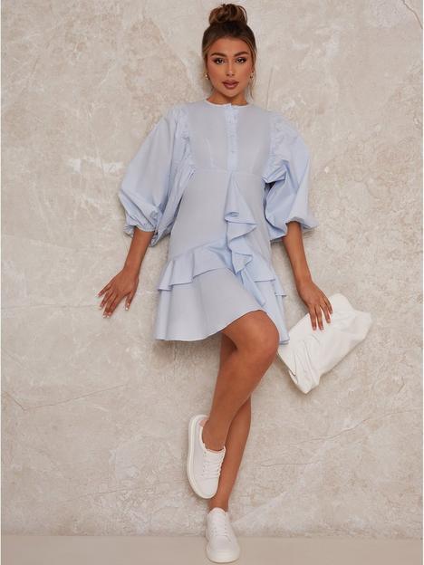 chi-chi-london-chi-chi-ruffle-shirt-mini-day-dress
