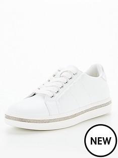 office-fancier-embellished-trainer-white