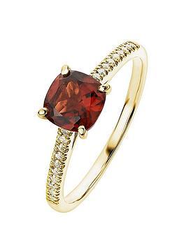 love-gem-9ct-yellow-gold-garnet-and-010ct-diamond-ring