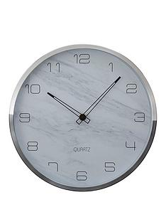 premier-housewares-elko-faux-marble-wall-clock