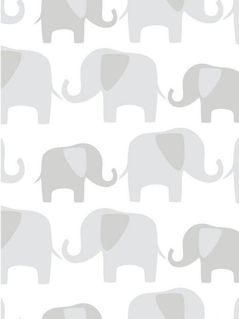 nuwallpaper-grey-elephant-parade-stick-on-wallpaper