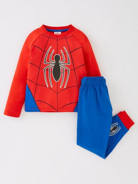 spiderman-boys-spiderman-novelty-long-sleeve-pyjamas-redblue