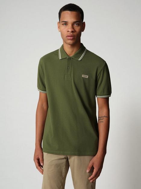 napapijri-tipped-polo-shirt-green