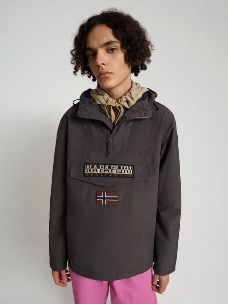 napapijri-rainforest-one-pocket-water-resistant-jacket-dark-grey