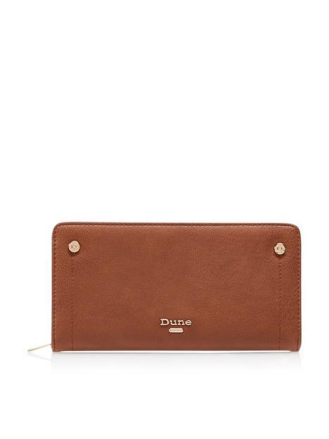 dune-london-korrie-zip-purse-tan