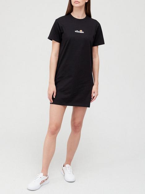 ellesse-heritage-leana-t-shirt-dress-black