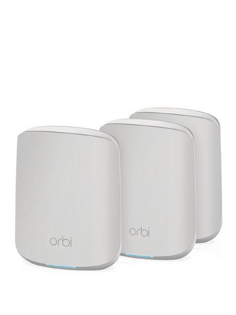 netgear-orbi-wifi-6-mesh-system-ax1800-rbk353-1-router-with-2-satellite-extenders
