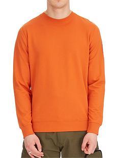 weekend-offender-weekend-offender-f-bomb-nylon-overlay-badge-sweat-marmalade