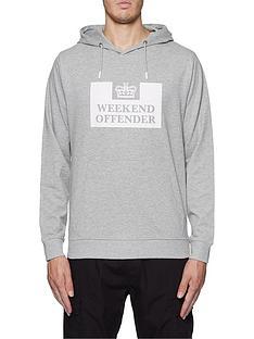 weekend-offender-weekend-offender-hm-service-classic-logo-overhead-hoodie-grey-marl
