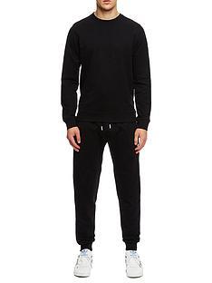 weekend-offender-weekend-offender-maspeth-badge-crew-neck-jog-suit-black