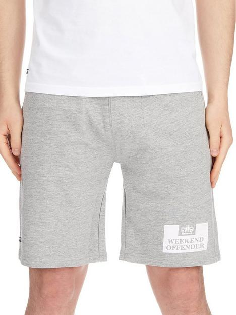 weekend-offender-weekend-offender-classic-prison-jersey-shorts-grey-marl