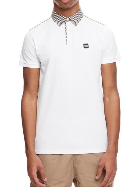 weekend-offender-weekend-offender-diani-check-collar-polo-shirt-white
