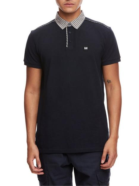 weekend-offender-weekend-offender-diani-check-collar-polo-shirt-navy