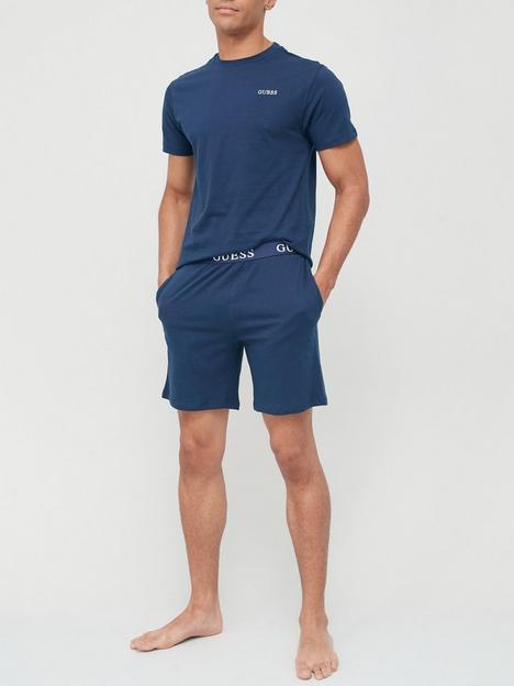 guess-pyjama-set-navy