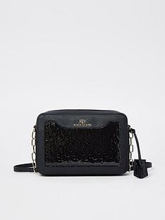 river-island-embossed-patent-boxy-bag-black