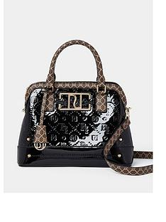 river-island-embossed-patent-bag-black