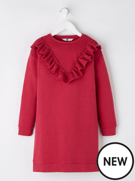 v-by-very-girls-essential-frill-sweater-dress-pink