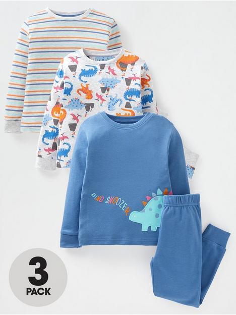 mini-v-by-very-boys-3-pack-long-sleeve-pj-sets-stripedino-printblue