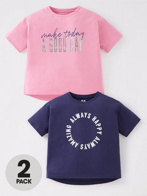 v-by-very-girls-2-pack-positive-t-shirts-navypink