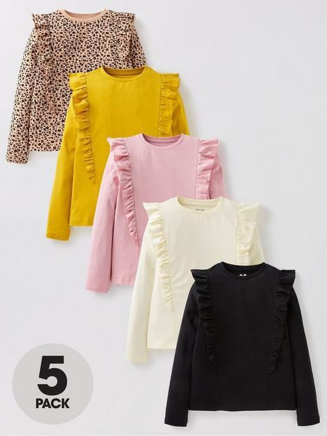 v-by-very-girls-5-pack-ruffle-long-sleeve-t-shirts-multi