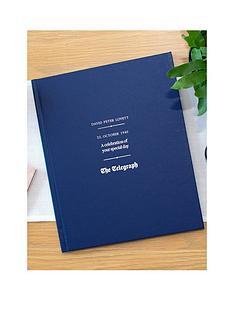 signature-gifts-telegraph-birthday-edition-newspaper-book-blue-standard