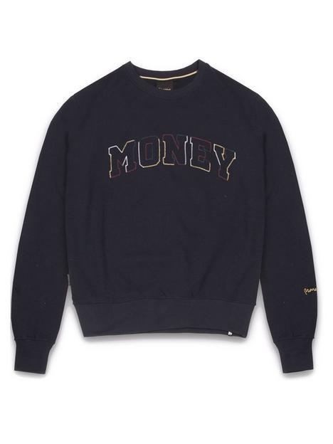 money-multi-block-crew-neck-sweatshirt