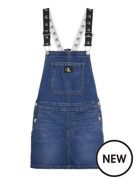 calvin-klein-jeans-girls-denim-dungaree-dress-mid-blue