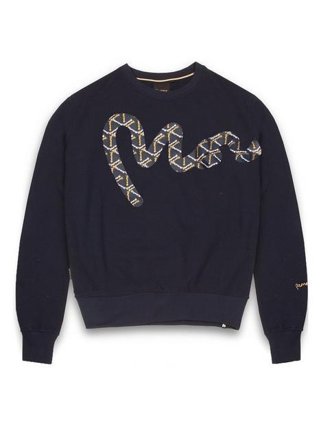 money-big-sig-logo-crew-neck-sweatshirt-navy