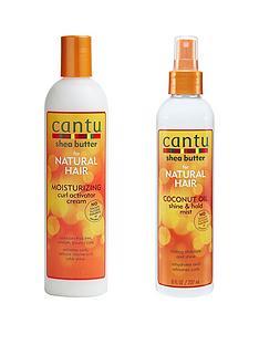 cantu-cantu-curl-activator-cream-355ml-and-coconut-oil-shine-hold-237ml-bundle