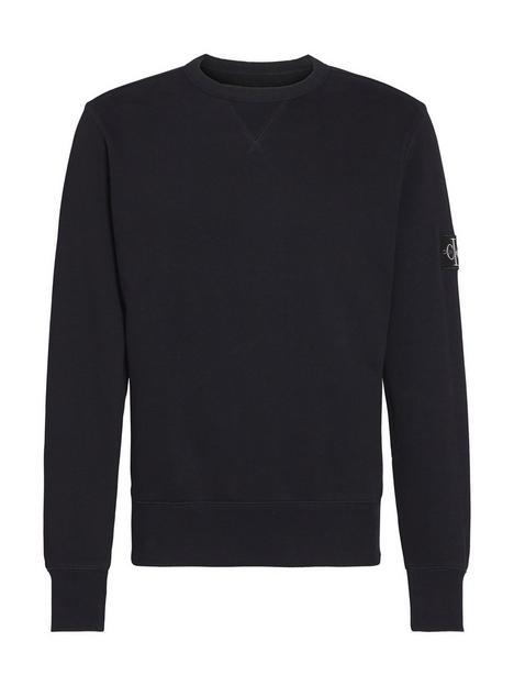 calvin-klein-jeans-ck-jeans-monogram-sleeve-badge-sweatshirt-black