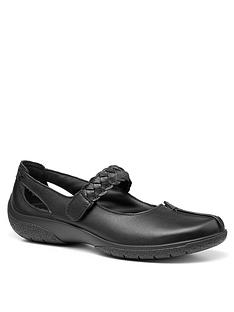 hotter-shake-flat-shoes-black