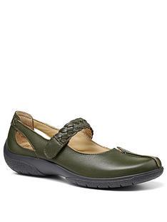 hotter-shake-flat-shoes-evergreennbsp