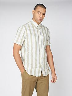 ben-sherman-ben-sherman-short-sleeve-block-striped-shirt