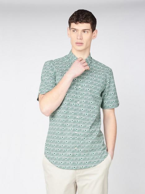 ben-sherman-ben-sherman-short-sleeve-retro-print-shirt