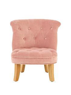 premier-housewares-estelle-kids-chair-pink-velvet