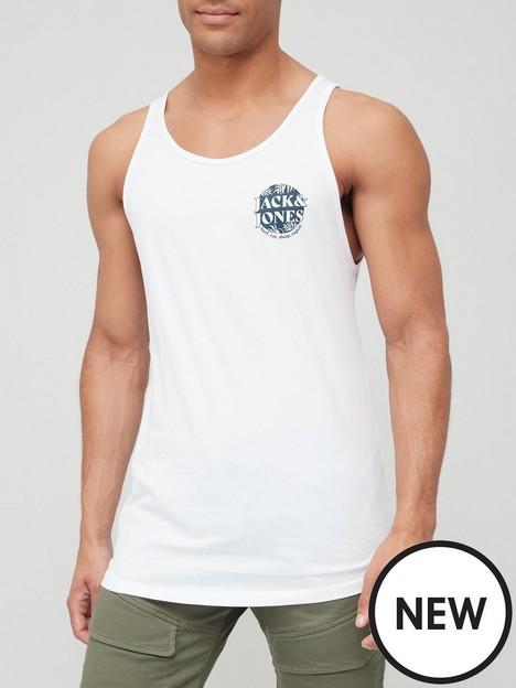 jack-jones-small-logo-vest-white