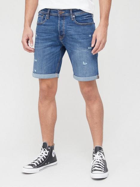 jack-jones-distressed-denim-shorts-blue