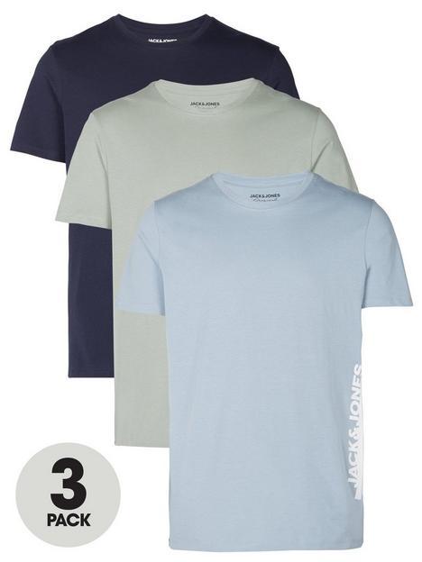 jack-jones-jorharry-side-short-sleevenbspcrew-neck-3-pack-t-shirt-multi