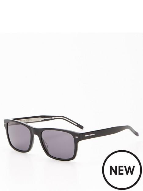 tommy-hilfiger-tommy-acetate-rectangular-sunglasses-black
