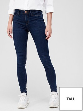 river-island-tall-mid-rise-molly-jegging-dark-blue