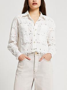 river-island-lace-cropped-shacket-white