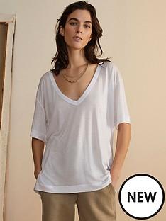 river-island-premium-deep-v-drape-t-shirt-white