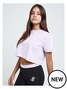 illusive-london-illusive-london-girls-tape-cuff-crop-short-sleeve-t-shirt